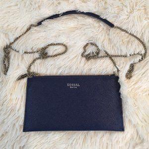 Sorial Blue Small Crossbody Bag Silver Chain